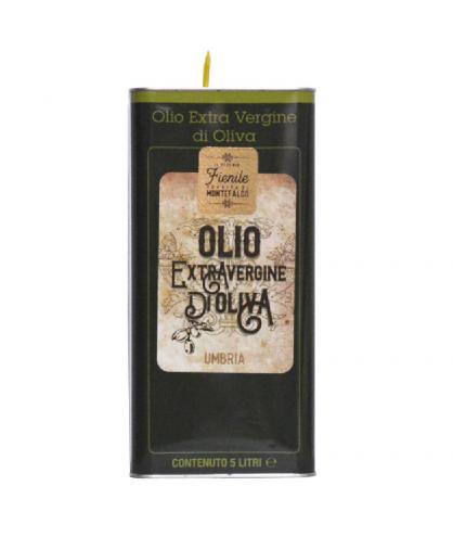 Olio extravergine di oliva 5,0 lt. moraiolo Umbria